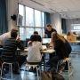 Etudiants de L3 de biologie lors d'une séance de pédagogie inversée animée par Jean-Charles Cailliez 4, en janvier 2015 //©Sophie Blitman
