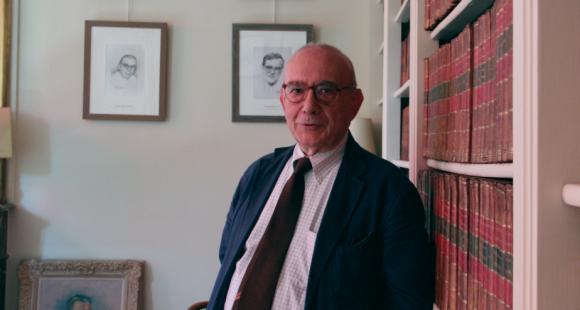Jean-Claude Casanova, président de la FNSP (Fondation nationale des sciences politiques) (Juillet 2012)