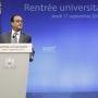 François Hollande a affiché son ambition de porter à 60% la proportion d'une classe d'âge diplômée de l'enseignement supérieur. //©Denis Allard / R.E.A