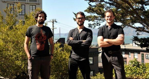 Les fondateurs de la Holberton School à San Francisco. De gauche à droite : Rudy Rigot, Sylvain Kalache, et Julien Barbier.