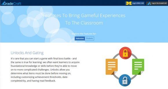 Gradecraft permet aux étudiants de choisir leurs parcours d'apprentissage.