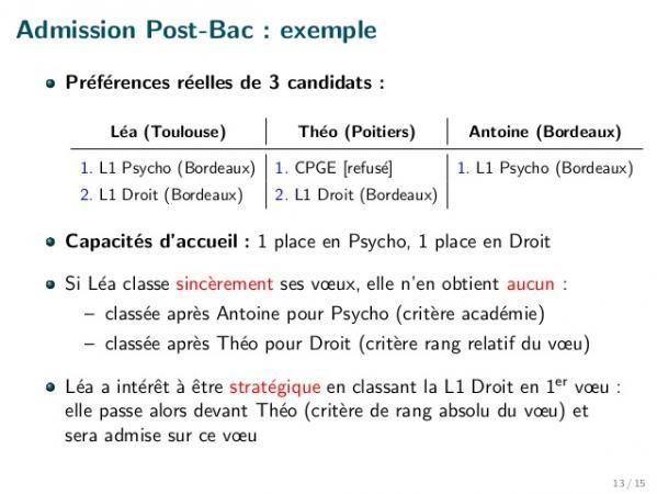 Julien Grenet L Algorithme D Admission Postbac Est Manipulable
