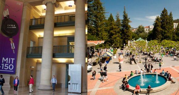 Le MIT à Cambridge (Etats-Unis)  - ©E.Vaillant / L'université de Berkeley en Californie - ©UCBerkeley