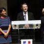 La cérémonie d'installation de Thierry Mandon au secrétariat d'Etat à l'ESR a eu lieu le 17 juin, avec Najat Vallaud-Belkacem et Geneviève Fioraso //©Denis Allard / R.E.A