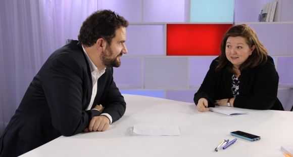Débat EducPros entre Guillaume Bordry (ADIUT) et Sandrine Javelaud (Medef) sur les missions des IUT, février 2015