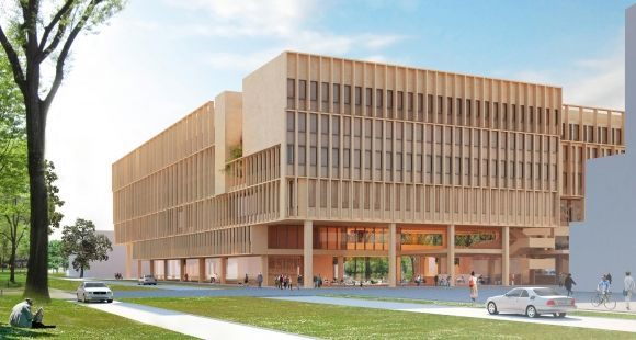 Maquette du futur bâtiment de Télécom ParisTech à Saclay