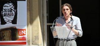 Nicolas Bourriaud, directeur de l'ENSBA, a défendu son mandat devant les enseignants //©Sophie de Tarlé