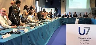 Le premier sommet de l'alliance U7+ a eu lieu les 9 et 10 juillet 2019 à Sciences po Paris, en présence de 48 présidents d'universités mondiales. //©Etienne Gless