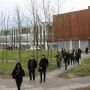 Etudiants de l'université de Reims Champagne-Ardenne (URCA), sur le campus Croix Rouge. //©Delphine Dauvergne
