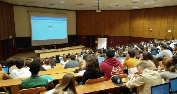 Amphithéâtre à l'université de Bordeaux