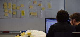 Étudiants des Mines de Douai lors d'un cours d'informatique mené avec une approche agile. //©École des mines de Douai