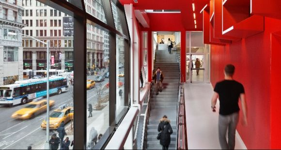 Ecole Parsons - New-York - The New school university center architectural photography