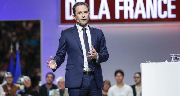 USAGE UNIQUE - Benoît Hamon, candidat PS à l'élection présidentielle