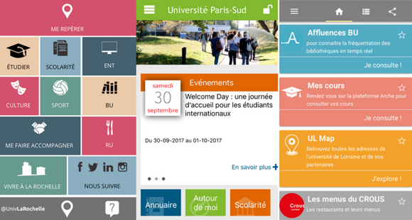 Applications mobiles des universités