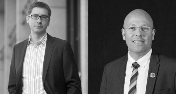 François Germinet (à gauche), VP de la commission formation de la CPU, et Rodolphe Dalle (à droite), président de l'Adiut, copilotent le groupe de travail sur la professionnalisation du premier cycle.