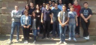 La classe d'ECP2 du lycée René-Cassin de Strasbourg avec leurs enseignants d'économie et droit // DR