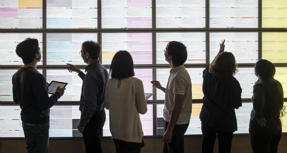 Le Learning Lab met à la disposition des établissements des jeux de données pour les aider à élaborer leur modèle mathématique. //©Inria / Photo H. Raguet