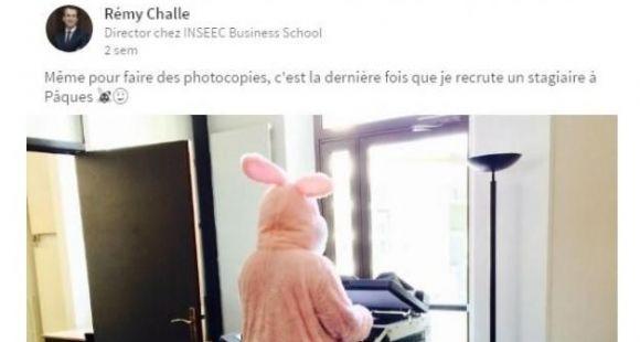 Rémy Challe, le directeur de l'Inseec BS, se met en scène sur les réseaux sociaux.