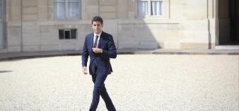 En entrant au gouvernement comme secrétaire d'Etat chargé de la Jeunesse, Gabriel Attal devient le plus jeune ministre du gouvernement Philippe III. //©Hamilton / REA