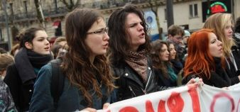 L'Unef appelle à une journée d'AG dans les universités le 17 mars, avant la journée de grève et manifestations interprofessionnelles du 31 mars prochain. //©Etienne Gless