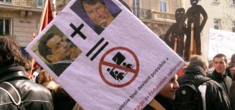 Manifestation du 27 mars 2008.