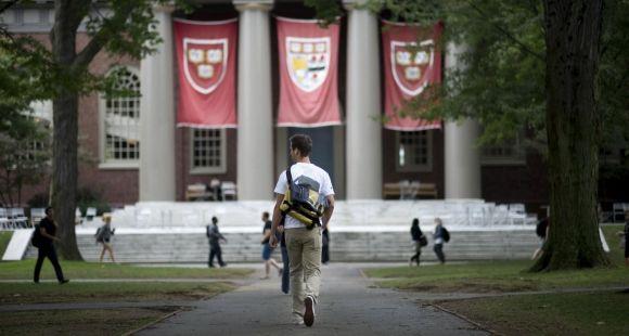 Sur le campus de l'université de Harvard