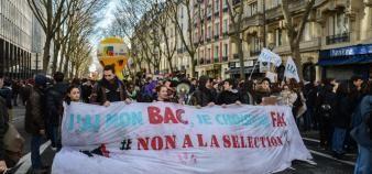 La manifestation parisienne a réuni entre 2.400 et 10.000 lycéens et étudiants, jeudi 1er février 2018. //©erwin canard