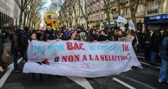 La réforme de l'entrée à l'université équivaut, pour les manifestants, à de la sélection