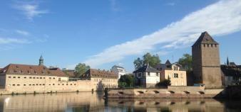Vue panoramique de l'arrière du site de l'ENA à Strasbourg. //©Elodie Meynard