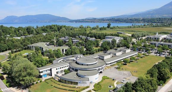 Vue aérienne de l'ESC Chambéry