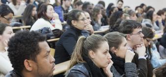 Amphi d'étudiants de l'université Paris-Est Créteil. //©UPEC / Nicolas Darphin