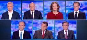 Pendant le premier débat de la primaire de la droite et du centre, les 7 participants n'ont pas débattu de l'éducation ou de l'enseignement supérieur. //©TF1/Capture d'écran