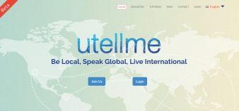 Utellme, plate-forme en ligne d'apprentissage des langues. //©Utellme / capture d'écran