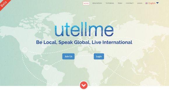 Utellme, plate-forme en ligne d'apprentissage des langues.
