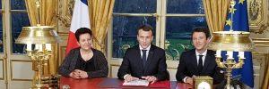 Emmanuel Macron a promulgué la loi ORE le 8 mars 2018. //©MESRI