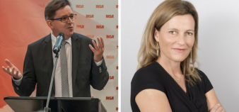 La Cdefi, présidée par Marc Renner, et la CGE, présidée par Anne-Lucie Wack, ont réagi dans un communiqué commun aux critères des jurys Idex sur les candidatures de PSL et Paris-Saclay. //©Montage EducPros