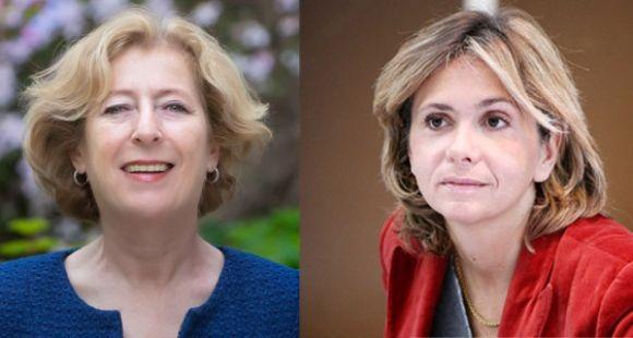 Geneviève Fioraso, secrétaire d'Etat à l'Enseignement supérieur et à la recherche, et Valérie Pécresse, député UMP ancienne ministre