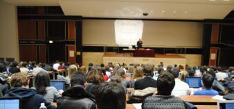 Marc Bidan dresse un panorama de l'écosystème institutionnel des sciences de gestion. //©Camille Stromboni
