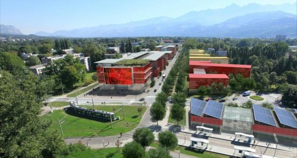 Vue aérienne du Campus Est - Grenoble université de l'innovation