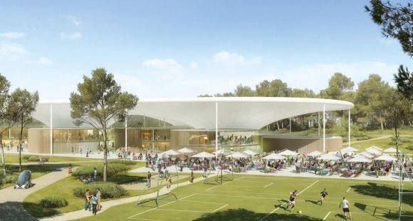 Thecamp le futur campus l am ricaine aix en for Venelles piscine