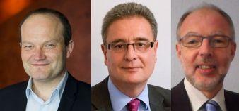 Benoît Lengaigne (Lille), Rostane Mehdi (Aix) et Gabriel Eckert (Strasbourg) font leur première rentrée à la tête de leurs IEP. //©Photos fournies par les établissements