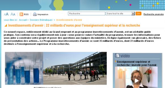 Grand emprunt : Valérie Pécresse précise le mode d'emploi des investissements d'avenir