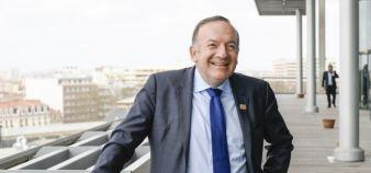 Pierre Gattaz, président du Medef, tire la sonnette d'alarme à propos de l'apprentissage //©Lydie Lecarpentier / R.E.A