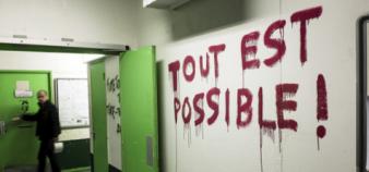 Les étudiants de l'université Paris 8 sont mobilisés depuis trois semaines contre la loi El Khomri. //©Simon LAMBERT/HAYTHAM-REA