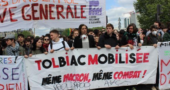 Manifestation étudiante du 1er mai 2018, Tolbiac, Paris 1.