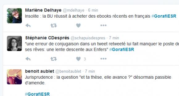 Twitter - GorafiESR - universitaires