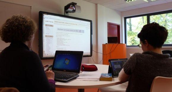 L'université du Maine s'attache à renouveler la pédagogie par le numérique ©D.Dauvergne - avril 2014
