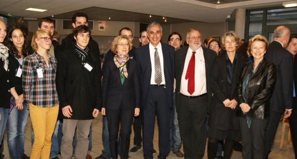 Geneviève Fioraso en visite à Paris-Sud, novembre 2012 © M. Lecompt/PSUD