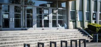 L'université de Paris-Nanterre, comme tous les campus universitaires français, rouvrira progressivement à son personnel au cours des mois de mai-juin. //©Simon LAMBERT/HAYTHAM-REA