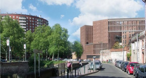 Les maquettes du futur bâtiment de Toulouse School of Economics